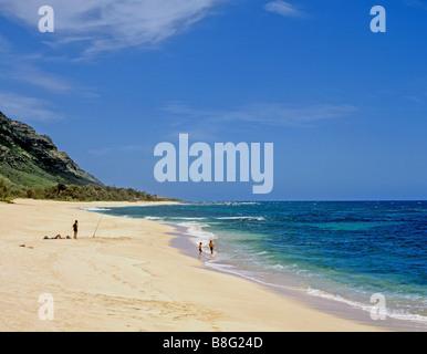 2060 Mokuleia beach Oahu Hawaii USA - Stock Photo