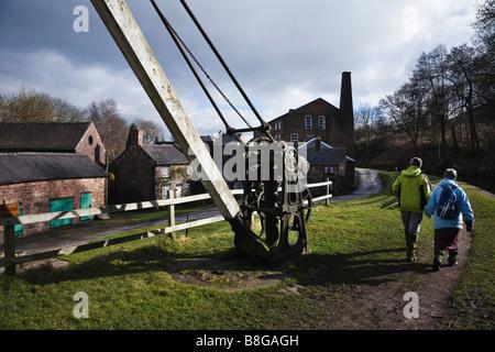 Cheddleton Flint Mill, near Leek, Staffordshire, England - Stock Photo
