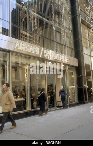 The new Armani store recently opened on Fifth Avenue in New York - Stock Photo