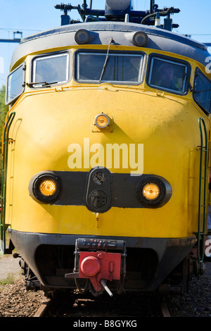 The front of a famous Dutch train icon: The original Dognose. Not in regular service anymore. NS electric multiple - Stock Photo