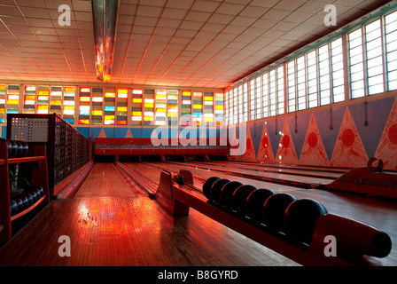 old american bowling alley asmara eritrea east africa - Stock Photo
