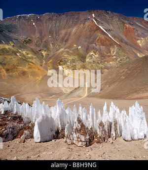 Ice Pinnacles in the Andes - Stock Photo