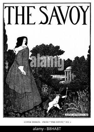 Aubrey Beardsley The Savoy No 1 Cover illustration from the first edition of the literary magazine in 1896 - Stock Photo