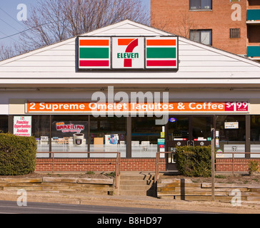 Arlington virginia usa 7 eleven convenience store for Convenience store exterior design