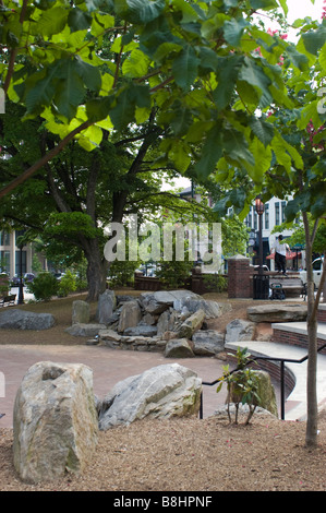 Pritchard Park in downtown Asheville North Carolina - Stock Photo