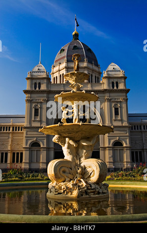 Melbourne Sculptures /  Exhibition Fountain is located in the Royal Exhibition Building s gardens.Melbourne Victoria - Stock Photo