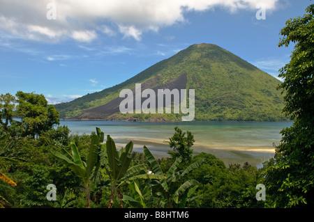 Gunung Api volcano Banda islands Indonesia - Stock Photo