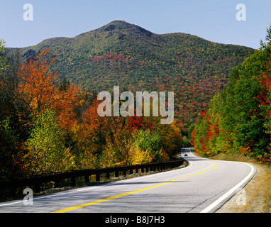 Along Kancamagus Highway and White Mountain NH USA