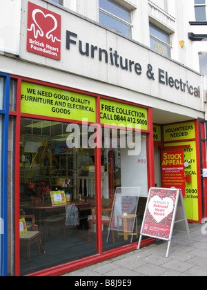 British heart foundation furniture electrical shop in for Furniture charity shops