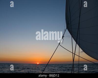 Sunrise on the North Sea - Stock Photo