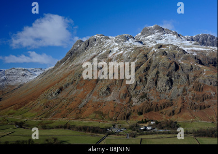 The Langdale Pikes. Great Langdale. Lake District National Park, Cumbria, England, United Kingdom, Europe.
