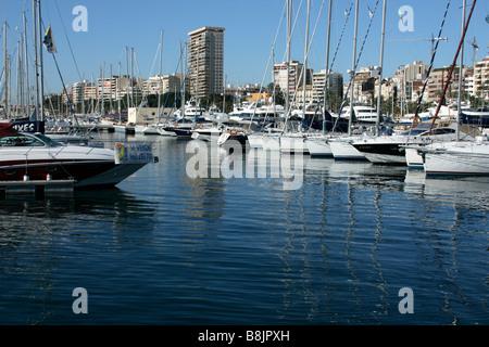 the boats at alicante port - Stock Photo