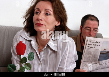 Bored with marriage - Stock Photo