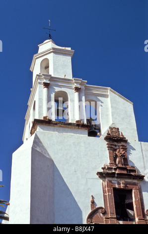 Built in the 18th century,the Templo de San Francisco is located in the city of San Miguel de Allende, Guanajuato, - Stock Photo