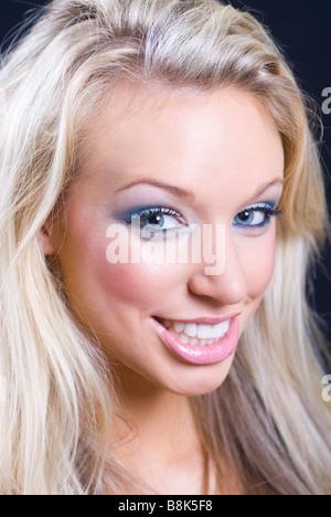Beautiful blond smiling