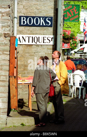 Exterior of bookshop in Hay Festival Hay on Wye Powys Wales UK - Stock Photo