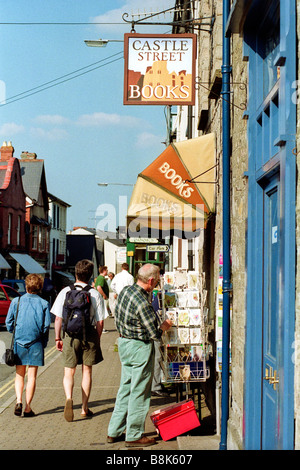Exterior of Castle Street Books Hay Festival Hay on Wye Powys Wales UK - Stock Photo