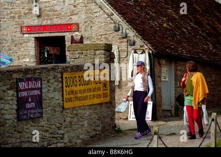 Exterior of Nepal Bazaar Hay Festival Hay on Wye Powys Wales UK - Stock Photo