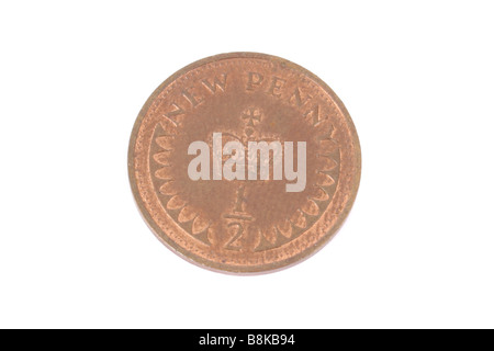 A half penny coin English coin. - Stock Photo