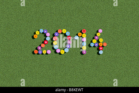 year 2014 - Stock Photo