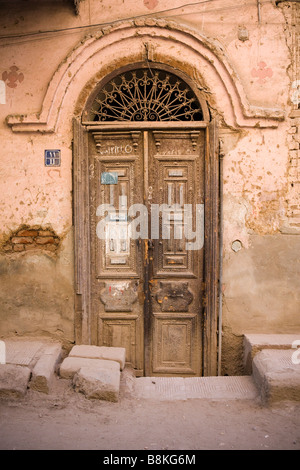 Front door on a street in Egypt - Stock Photo