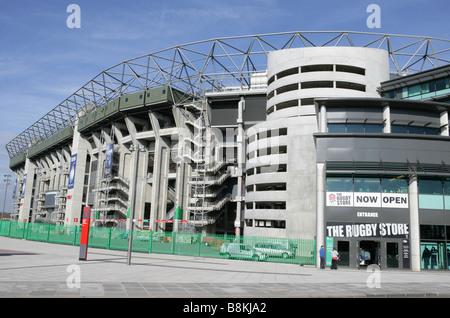 Twickenham Stadium west Stand rugby store - Stock Photo