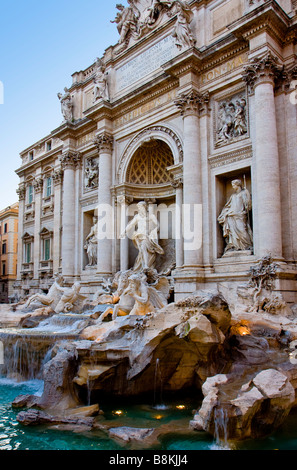 Trevi Fountain Rome Italy - Stock Photo