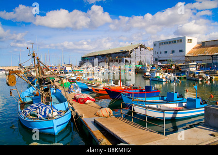 Lots of boats in picturesque port of Tel Aviv Israel - Stock Photo