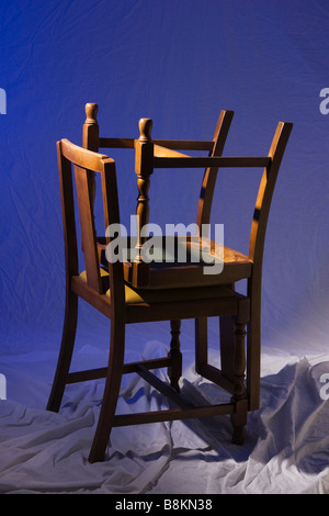 Stacked chairs. - Stock Photo