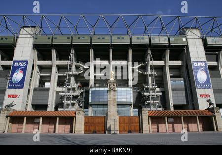Twickenham Stadium West Stand - Stock Photo