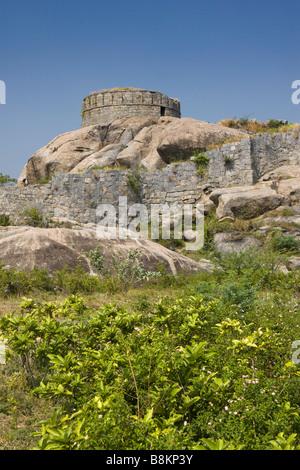 India Tamil Nadu Gingee Fort Rajagiri fort Vellore Gate - Stock Photo