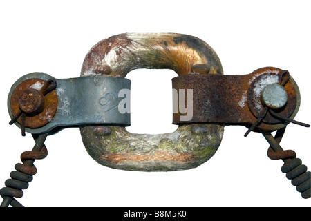 Old rusty insulator cutout. - Stock Photo
