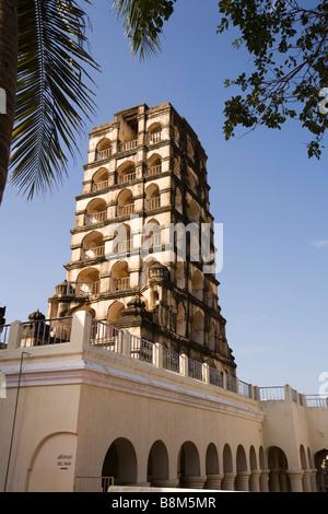 India Tamil Nadu Thanjavur Royal Palace landmark bell tower - Stock Photo