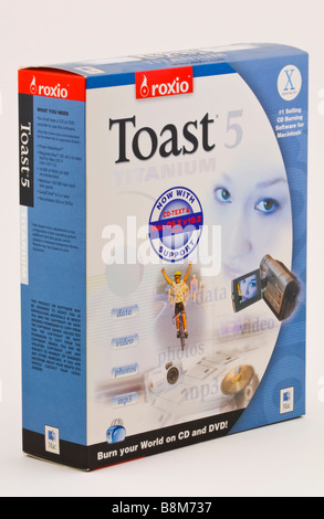 TOAST Titanium disc buring software by roxio for home and office use sold in the UK - Stock Photo