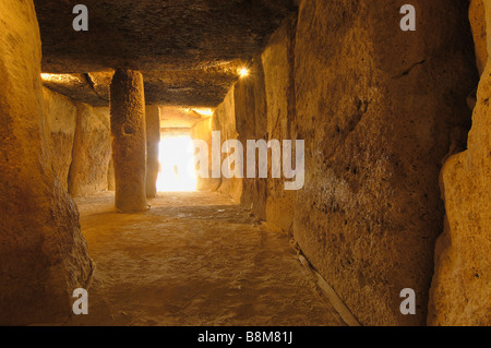 Dolmen of Menga at Antequera Málaga province Andalucia Spain - Stock Photo