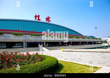 Liangjiang Airport in Guilin Guangxi Province China - Stock Photo