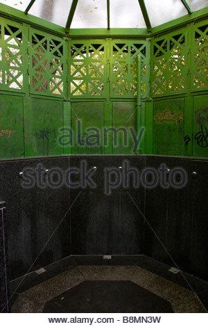 Oldest public toilet in Berlin - Stock Photo