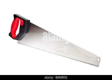 Wood saw on white cutout - Stock Photo