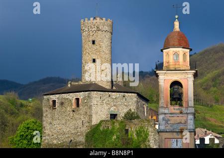 campo ligure,spinola castle, liguria, italy - Stock Photo