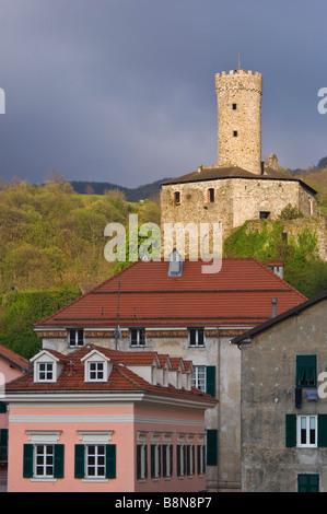 castello spinola, campo ligure, liguria, italy - Stock Photo