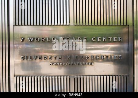 World trade center ground zero - Stock Photo