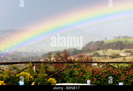 Somewhere over the Rainbow---in Le Marche ,Italy - Stock Photo
