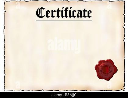 Blank Certificate Stock Photo: 29590634 - Alamy