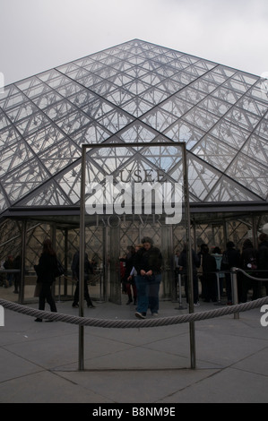 The entrance of the Louvre Museum - Stock Photo