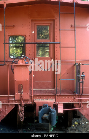 Little Red Caboose - Stock Photo