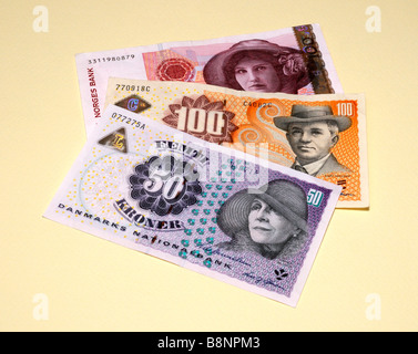 Scandinavian Banknotes - Stock Photo