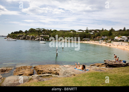 View of Camp Cove Watsons Bay New South Wales Australia - Stock Photo