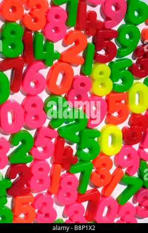Magnetic fridge numbers - Stock Photo