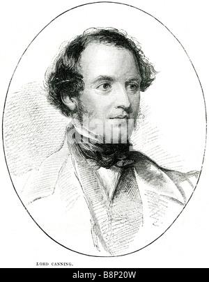 lord Charles John Canning 1812 1862 Governor-General Indian Rebellion 1857 Viscount English statesman - Stock Photo