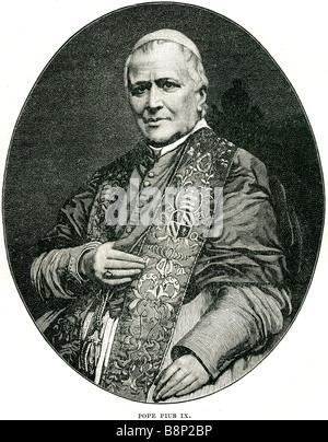 Blessed Pope Pius IX 1792 1878 Otto von Bismarck - Stock Photo